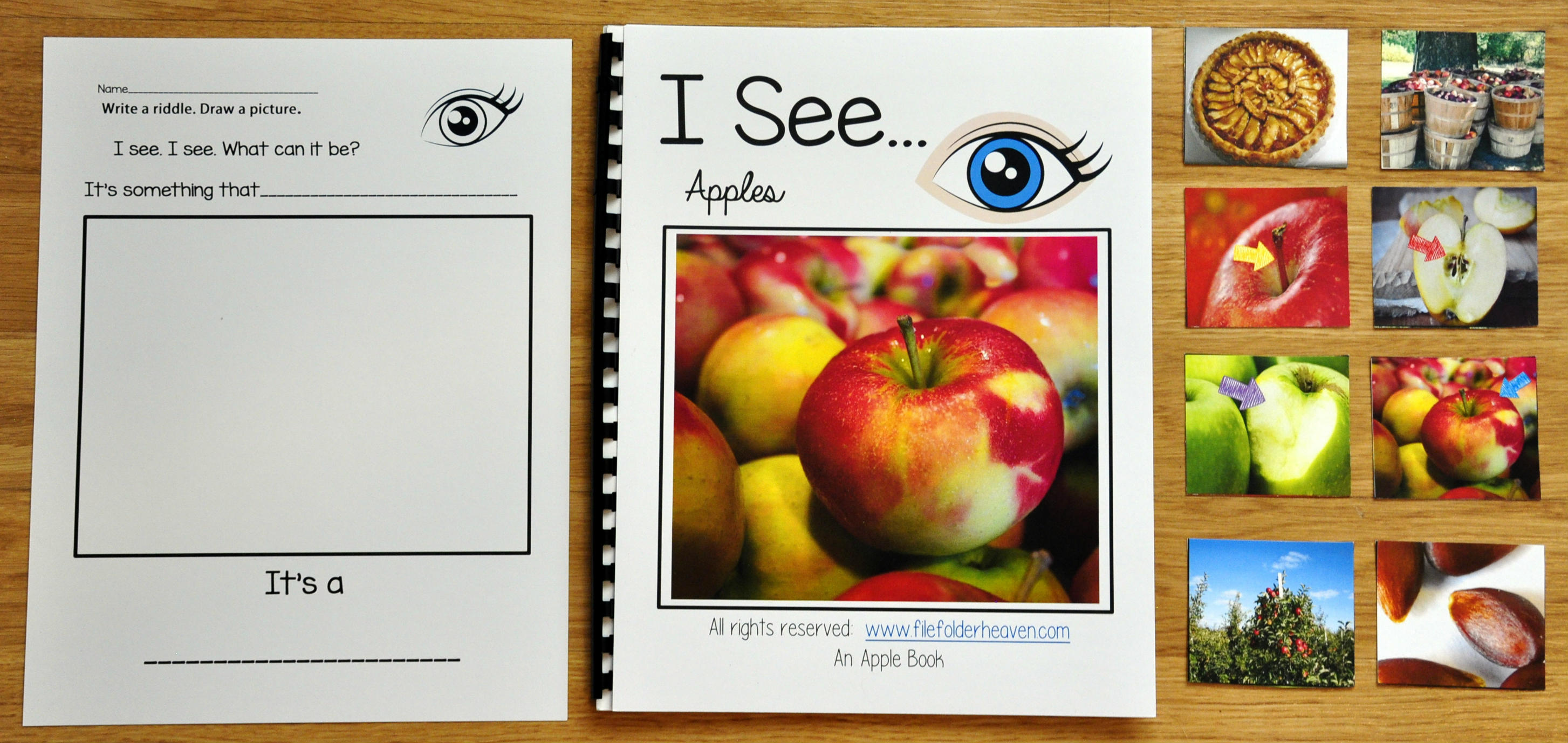 """I See"" Apples Adapted Book (w/Real Photos)"