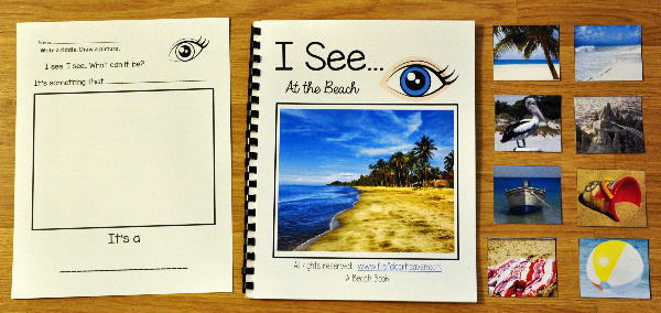 """I See"" At the Beach Adapted Book (w/Real Photos)"