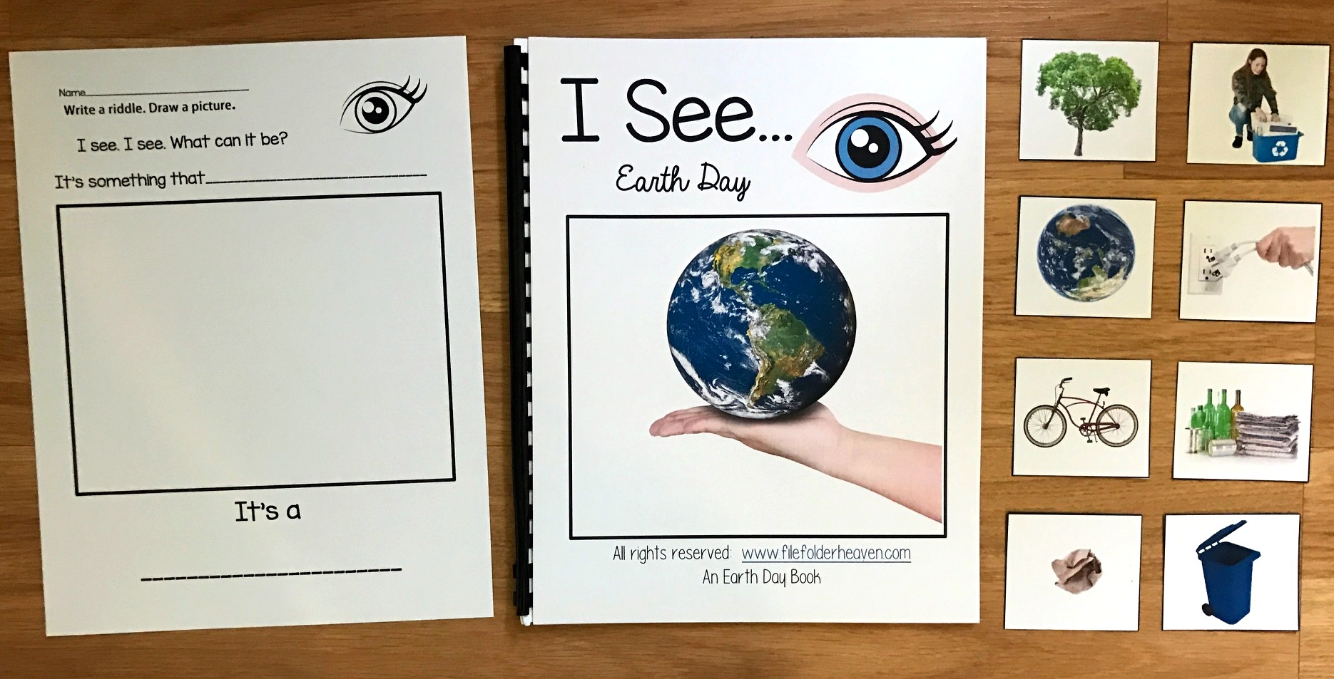 """I See"" Earth Day Adapted Book (w/Real Photos)"