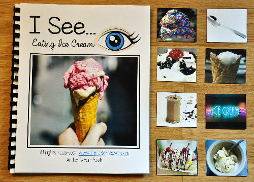 "I See ""Eating Ice Cream"" Adapted Book (w/Real Photos)"