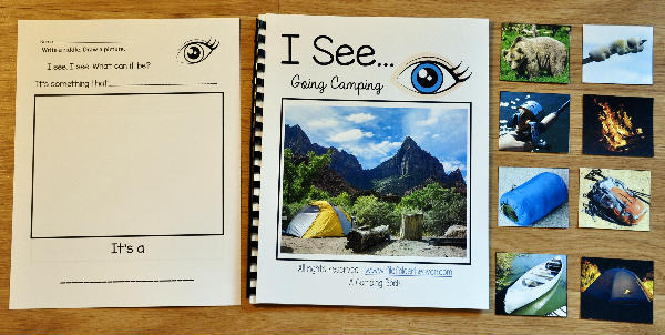 """I See"" Going Camping Adapted Book (w/Real Photos)"