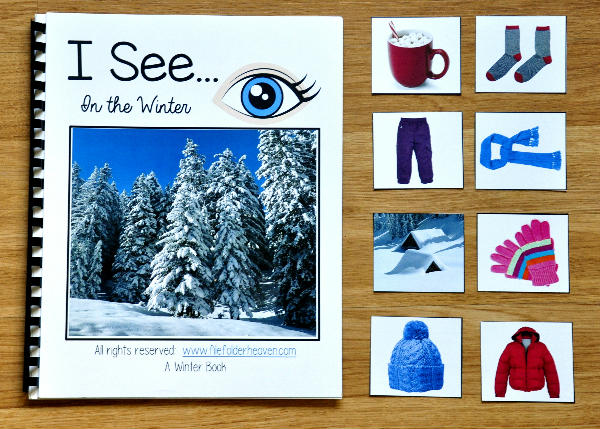 """I See"" In the Winter Adapted Book (w/Real Photos)"