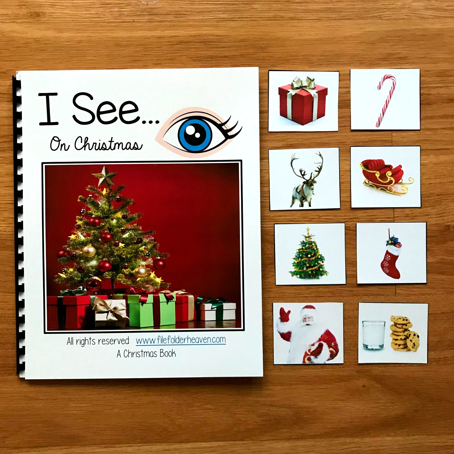 """I See"" On Christmas Adapted Book (w/Real Photos)"