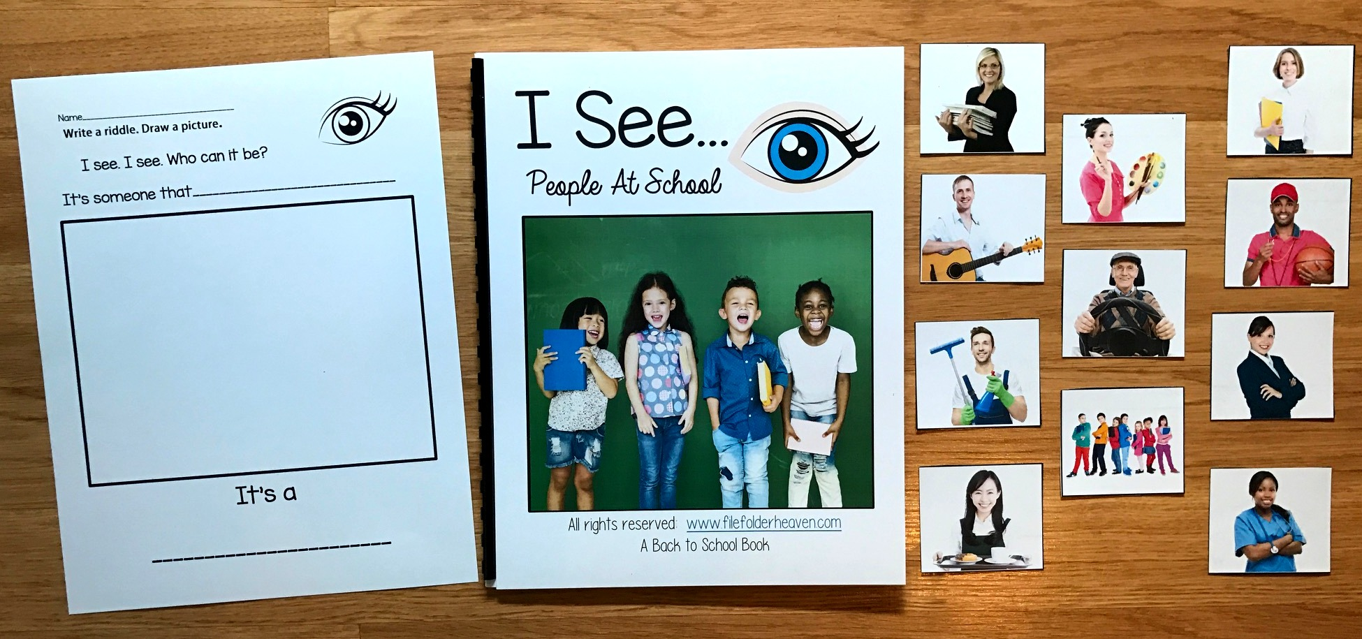 """I See"" People at School Adapted Book (w/Real Photos)"