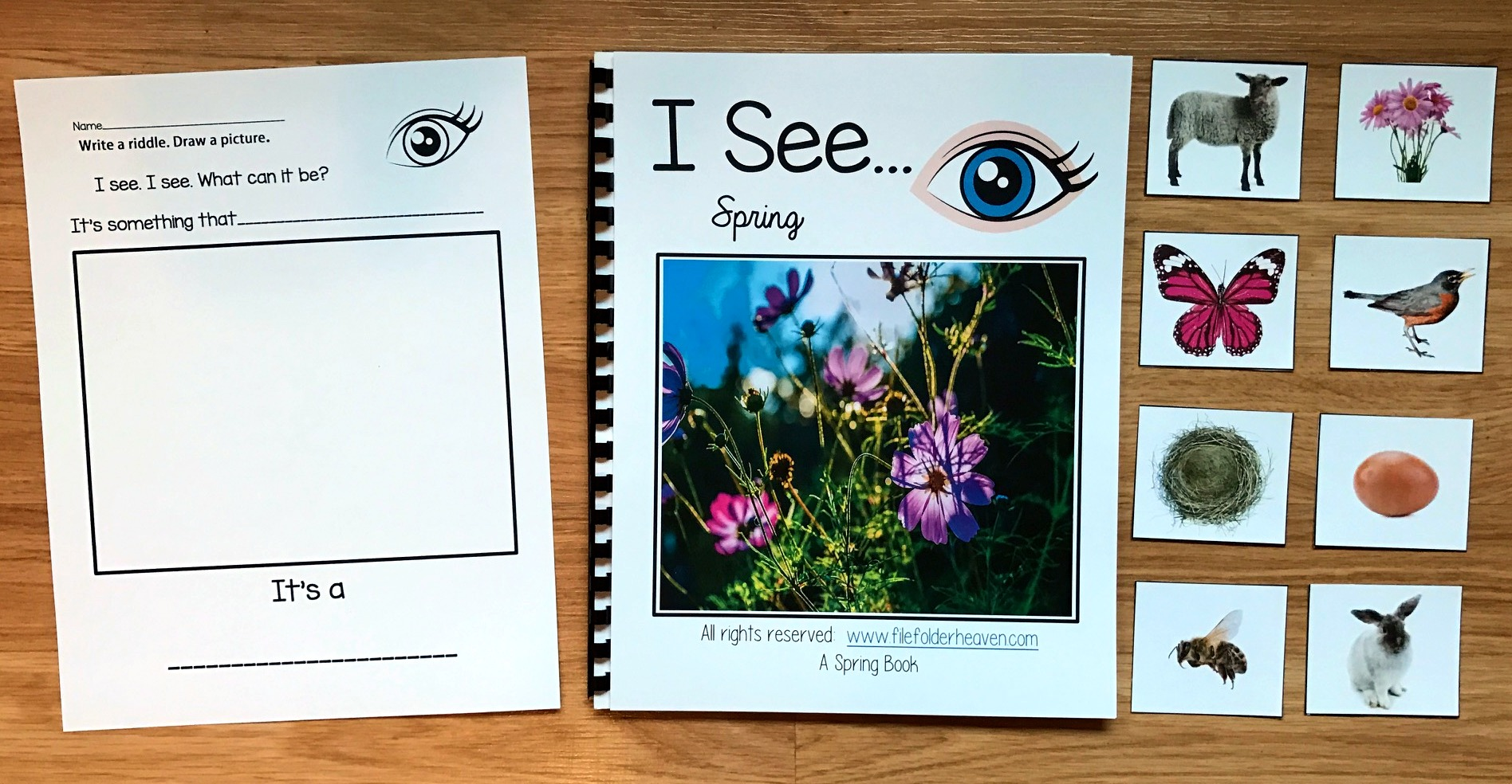 """I See"" Spring Adapted Book (w/Real Photos)"