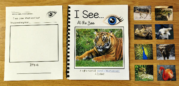 "I See ""At the Zoo"" Adapted Book"