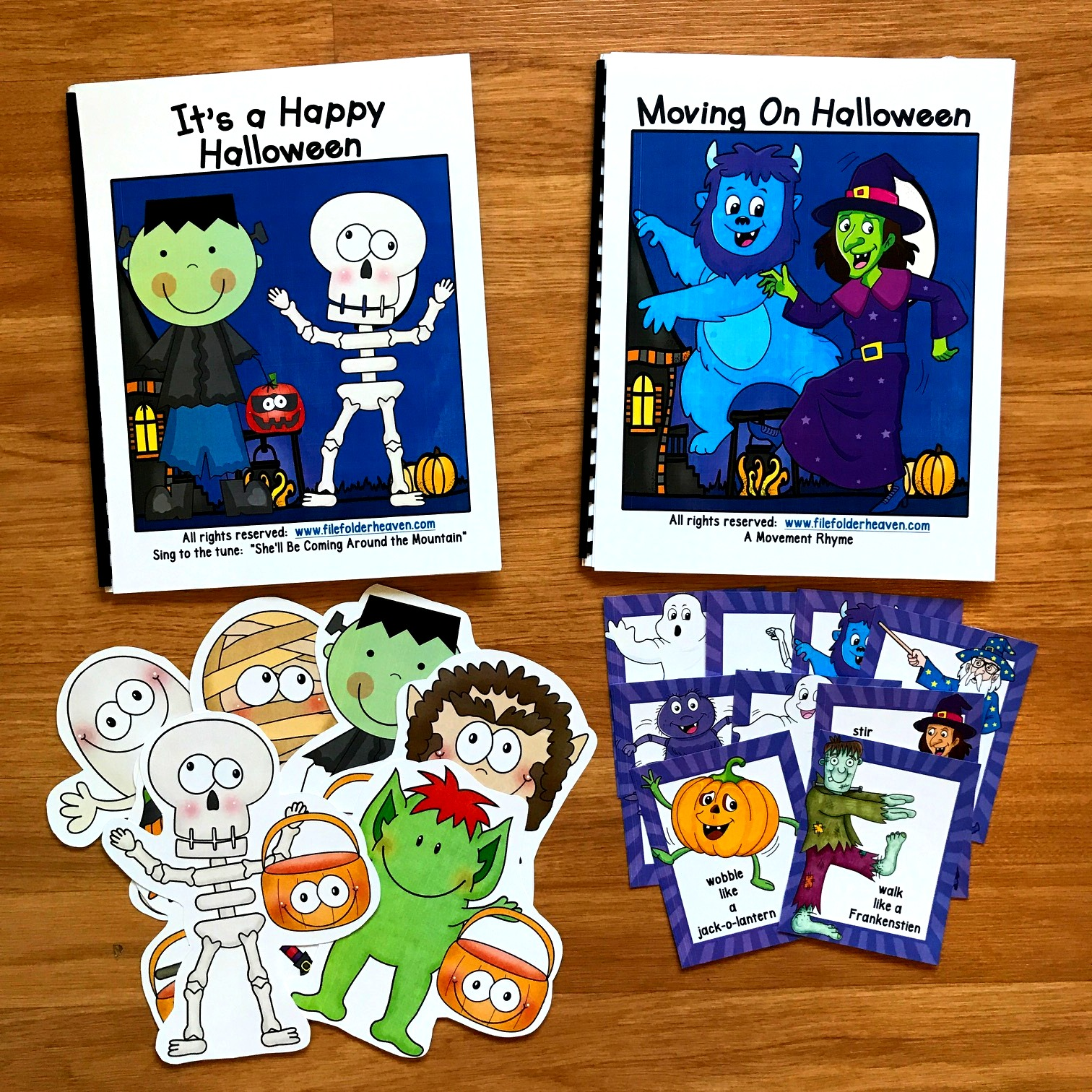 Halloween Adapted Books W/ Music and Movement