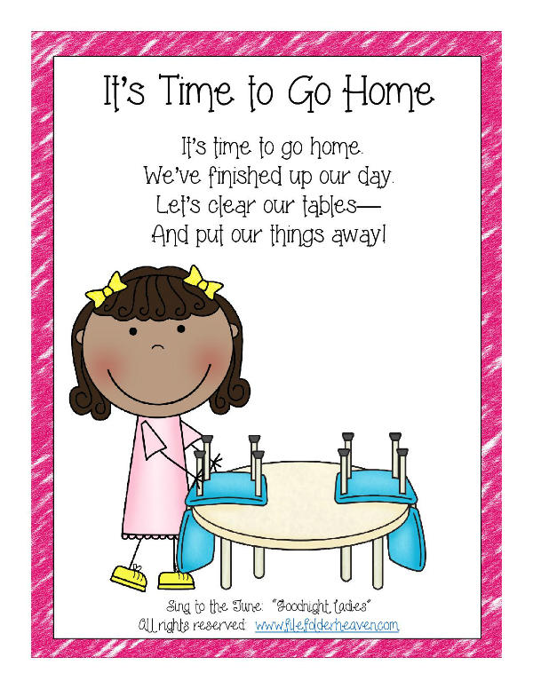 It's Time to Go Home Classroom Poster