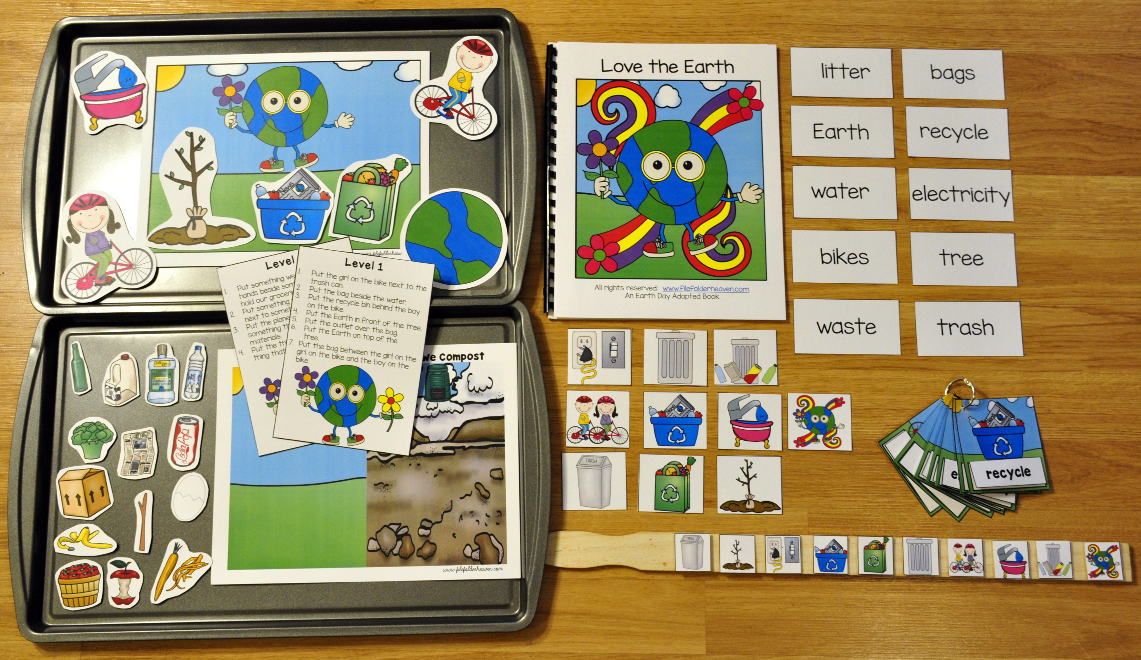 Earth Day Complete Adapted Books Unit