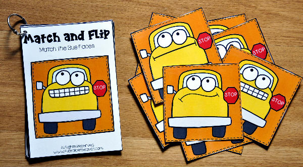 Back to School Match and Flip Books 2