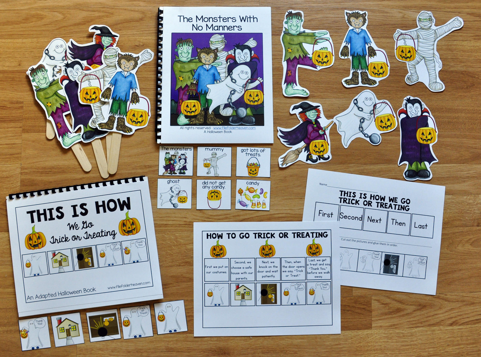 """The Monsters With No Manners"" Adapted Book and Activities"