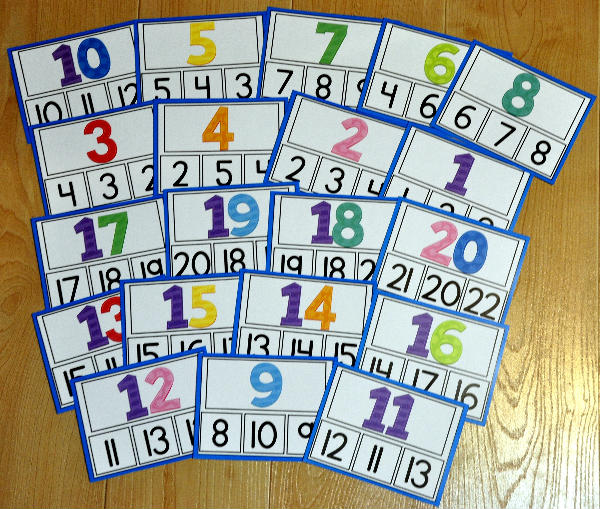 Numbers Task Cards