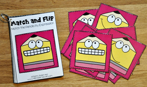 Back to School Match and Flip Books 3