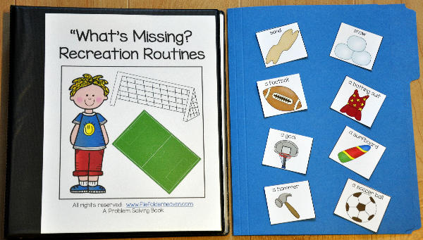 What's Missing? Recreation Routines Adapted Book