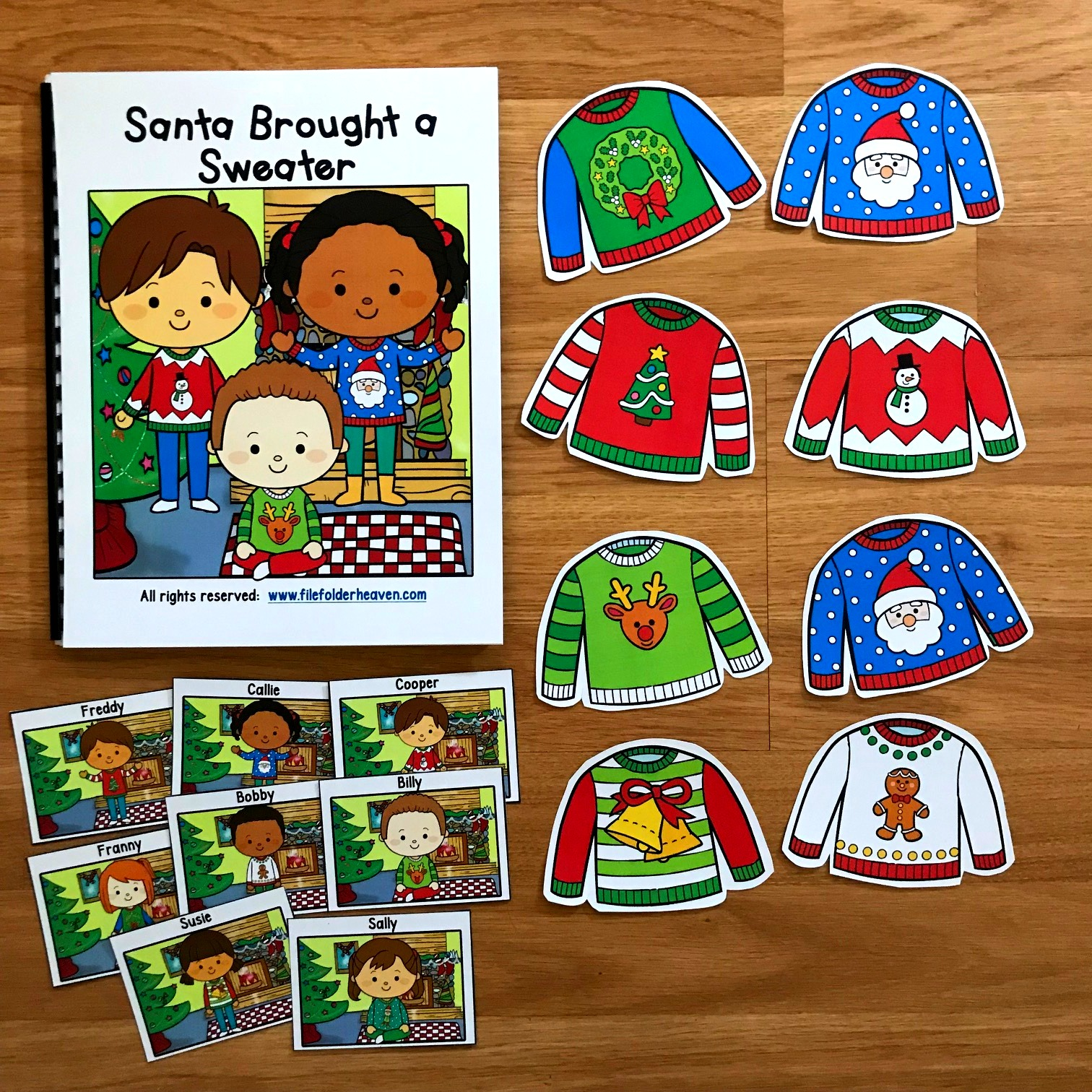 "Christmas Adapted Book ""Santa Brought a Sweater"""