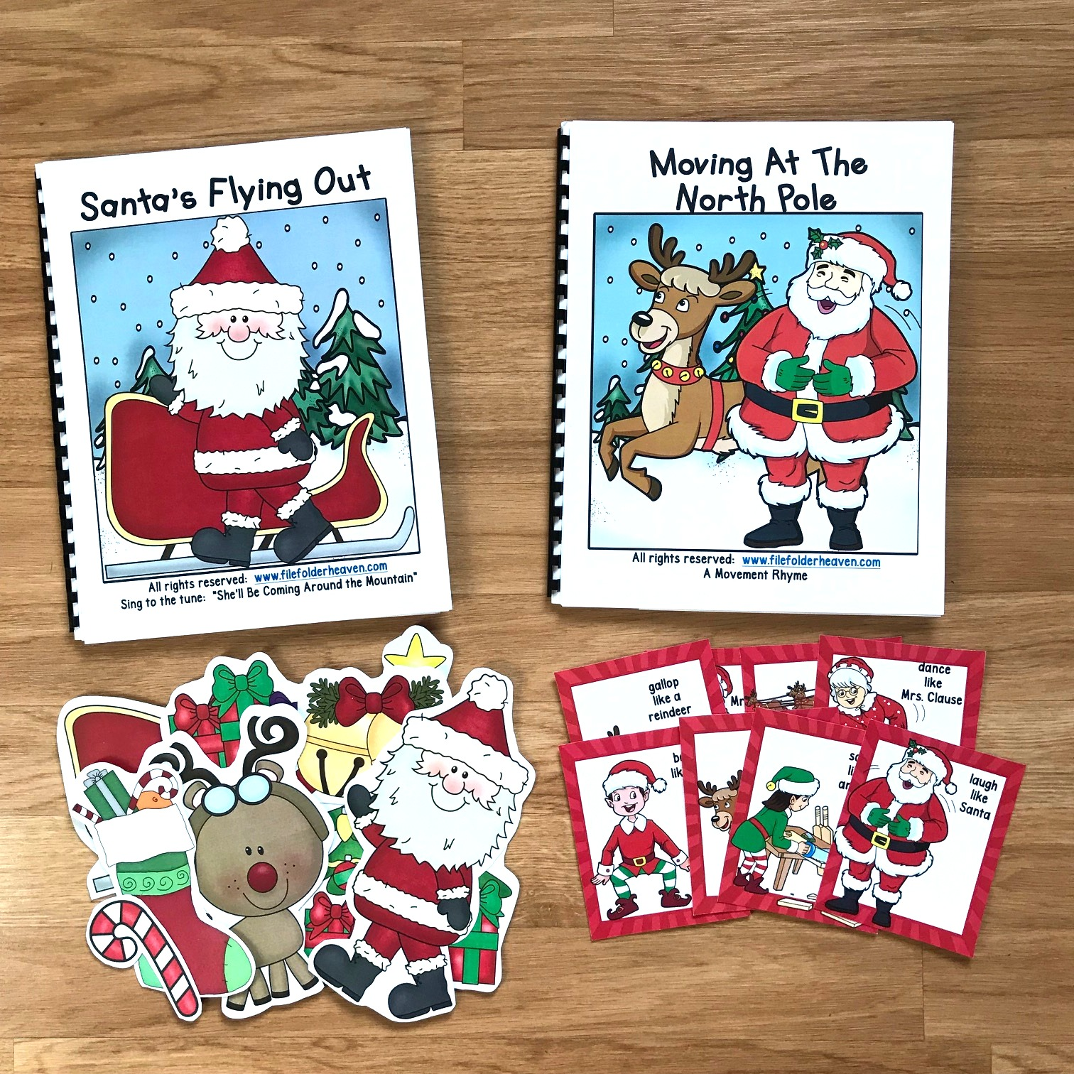 """Santa's Flying Out"" Adapted Song Book and Movement Book"