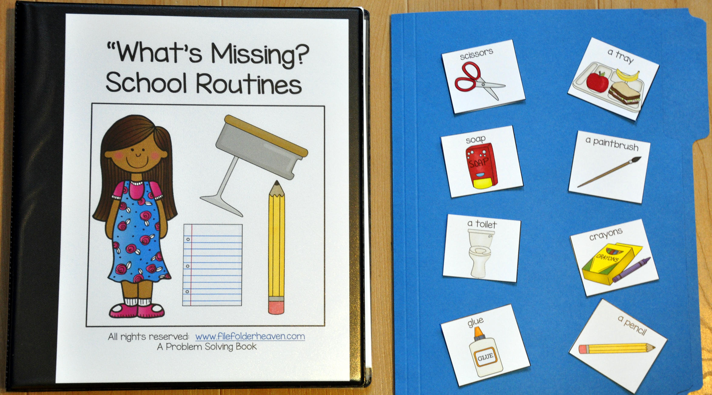 What's Missing? School Routines Adapted Book