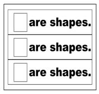 """Are Shapes"" Flip Strips"