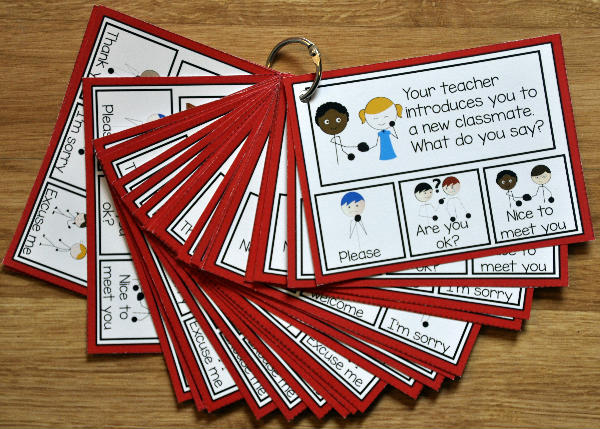 Manners Task Cards--What Do You Say?