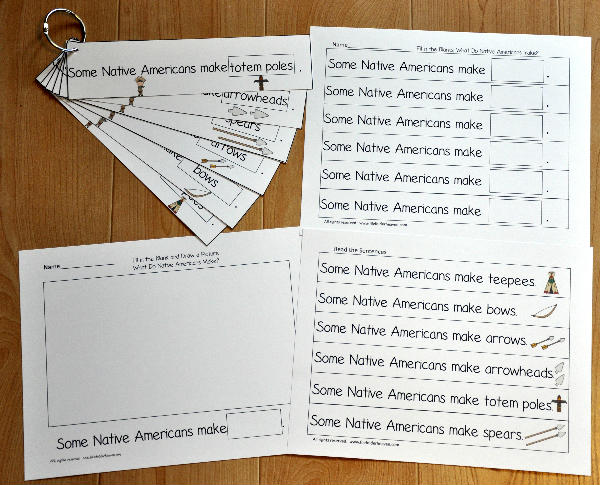 Native American Fluency Flipstrip Activities