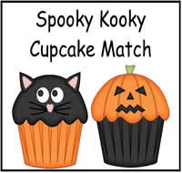 spooky kooky cupcake match file folder game - Halloween File Folder Games