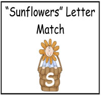 """Sunflowers"" Letter Match File Folder Game"