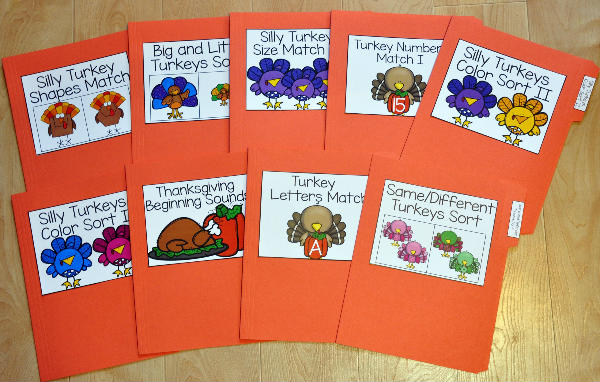 Turkey File Folder Games Mini-Bundle