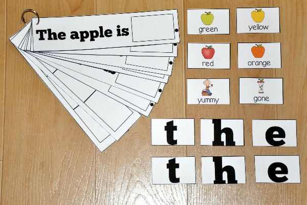 """The Apple Is"" Sight Word Flip Strips"