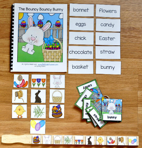 The Bouncy Bouncy Bunny Adapted Book and Vocabulary Activities