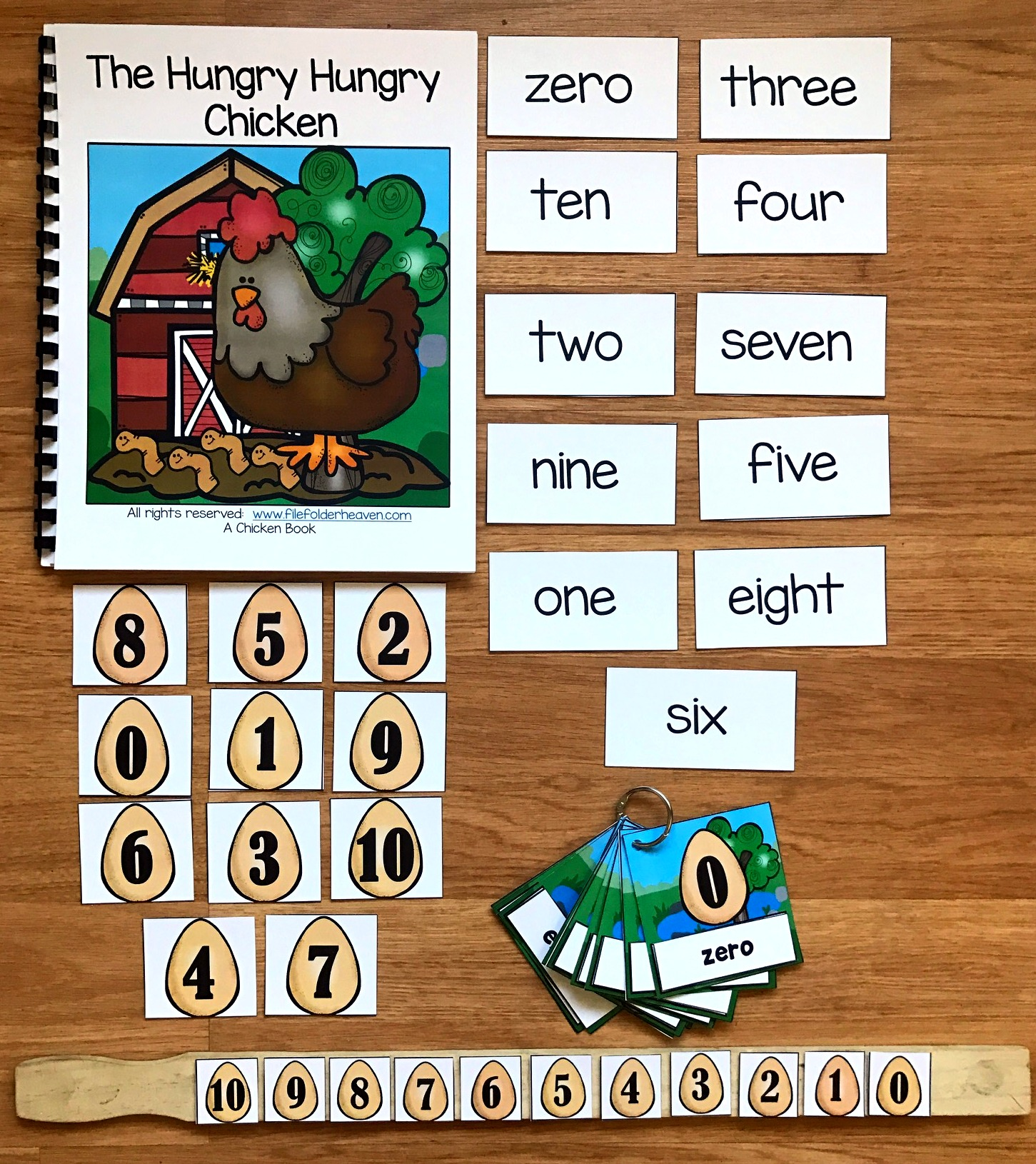 The Hungry Hungry Chicken Adapted Book and Vocabulary Activities