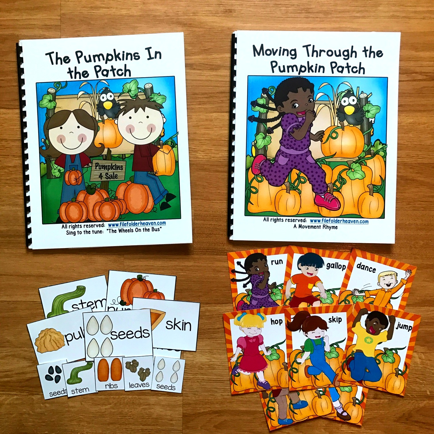 Pumpkin Adapted Books With Both Music and Movement