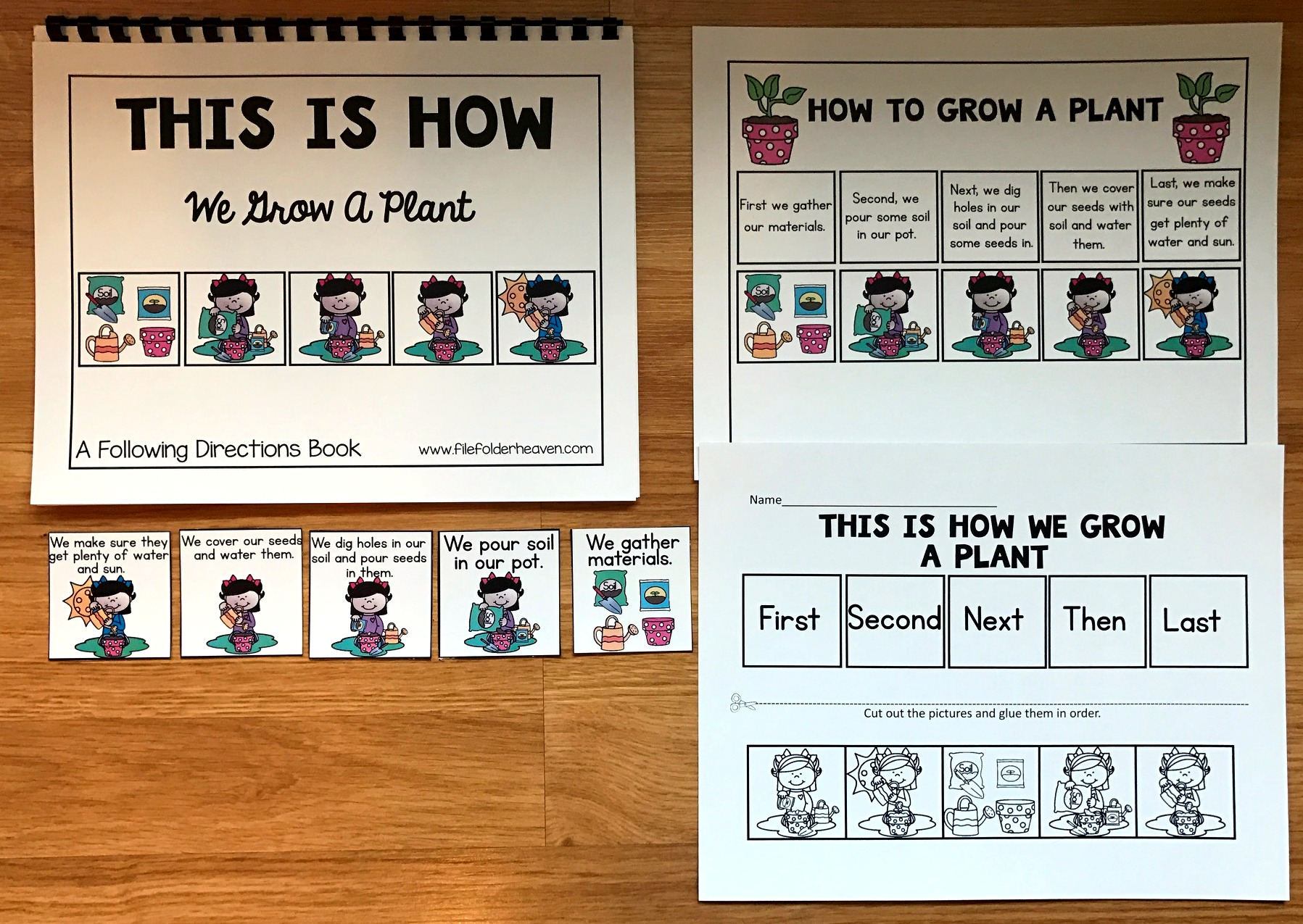 "Sequencing Adapted Book: ""How to Grow a Plant"""