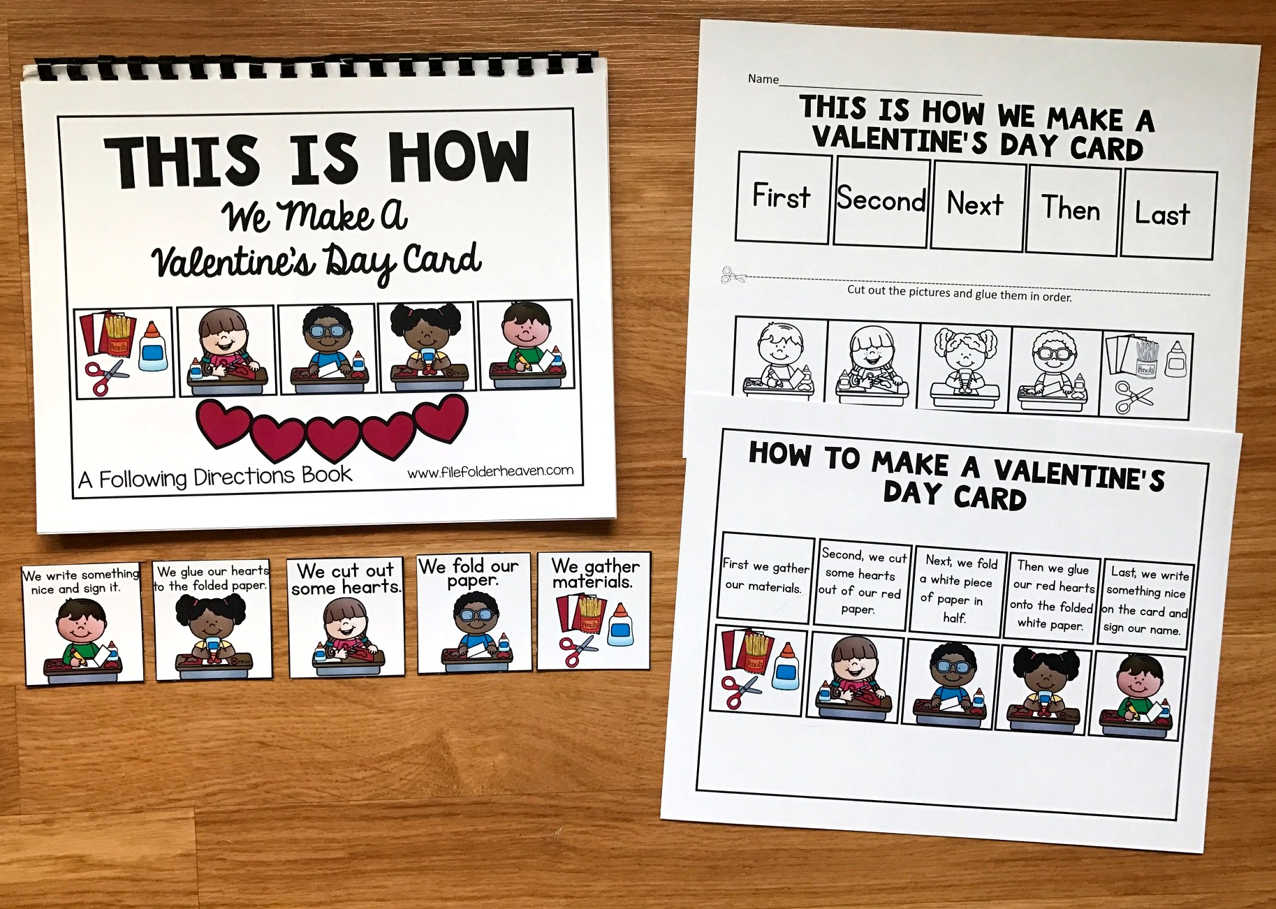 "Sequencing Adapted Book: ""How to Make a Valentine's Day Card"""