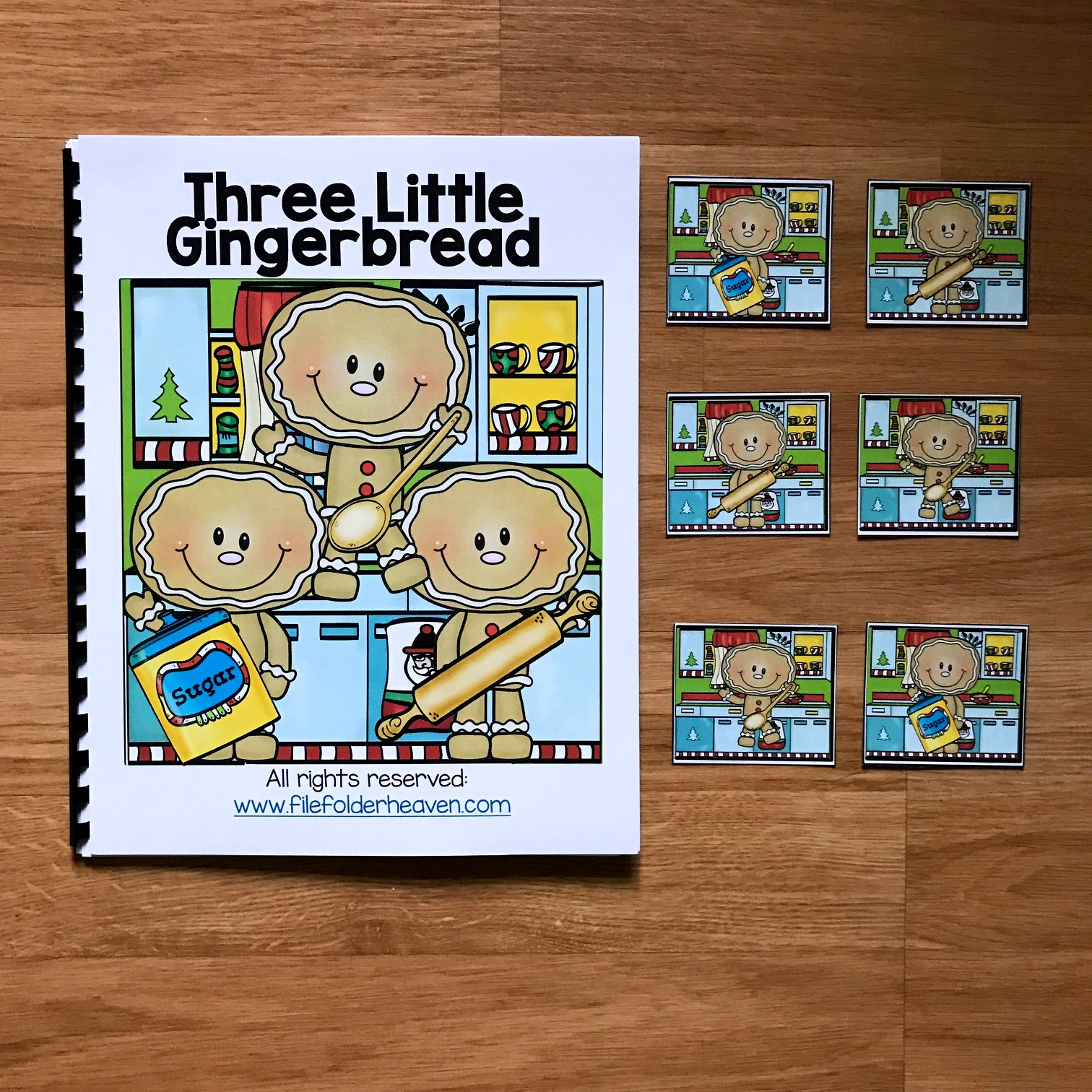"Gingerbread Man Adapted Book: ""Three Little Gingerbread"""