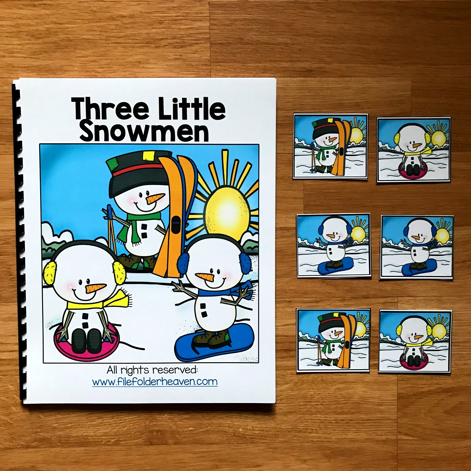 "Winter Adapted Book: ""Three Little Snowmen"""