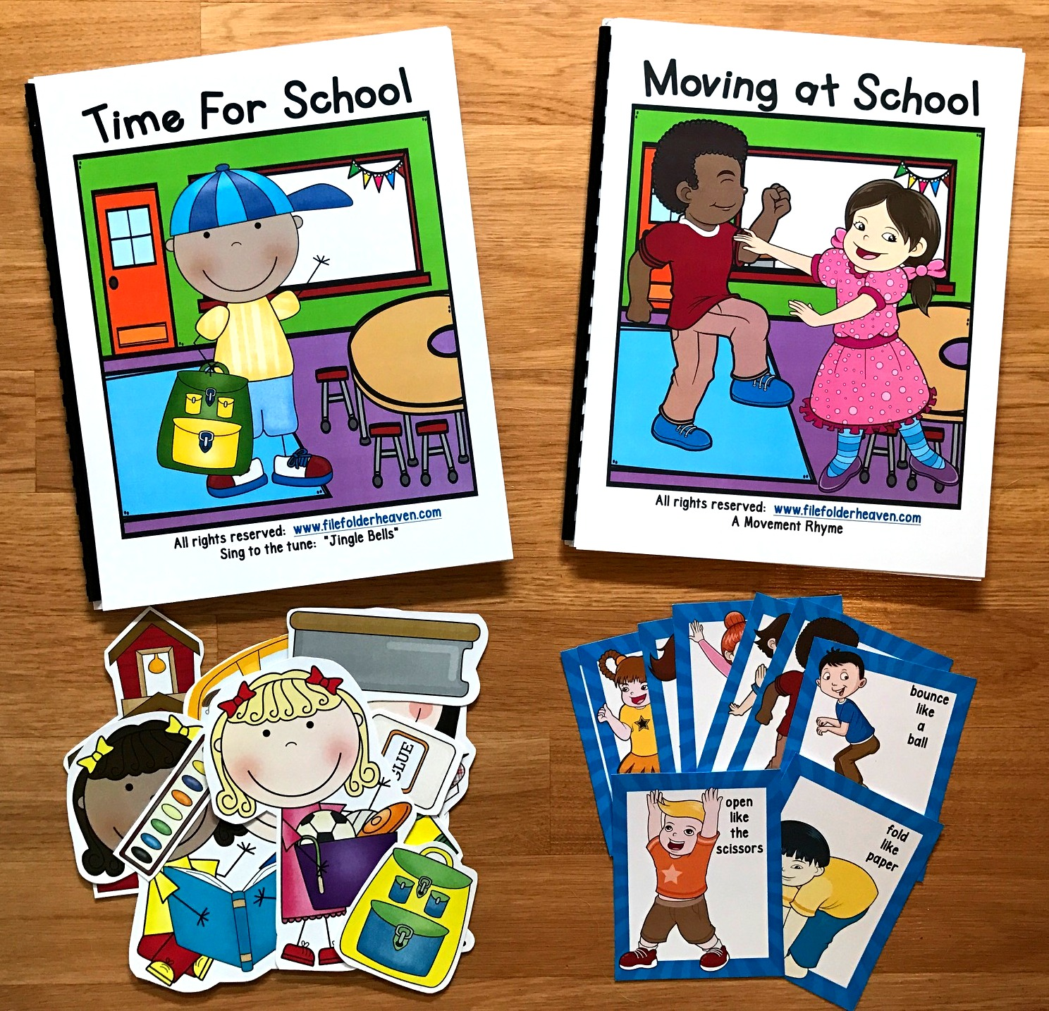 """Time for School!"" Adapted Song Book w/ ""Moving At School"""