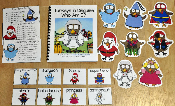 "Turkey Adapted Book: ""Turkeys In Disguise, Who Am I?"""