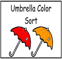 Umbrella Themed File Folder Games