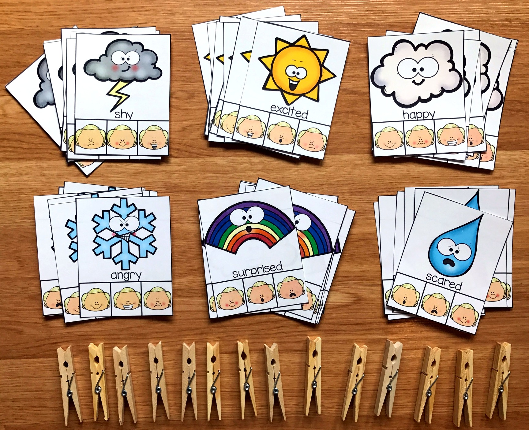 Weather Emotions Task Cards