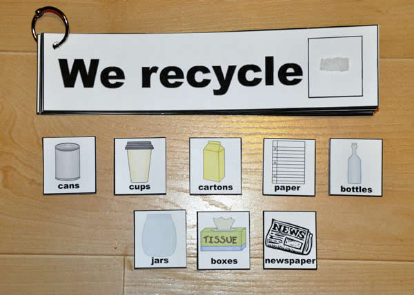 """We Recycle"" Flip Strips"