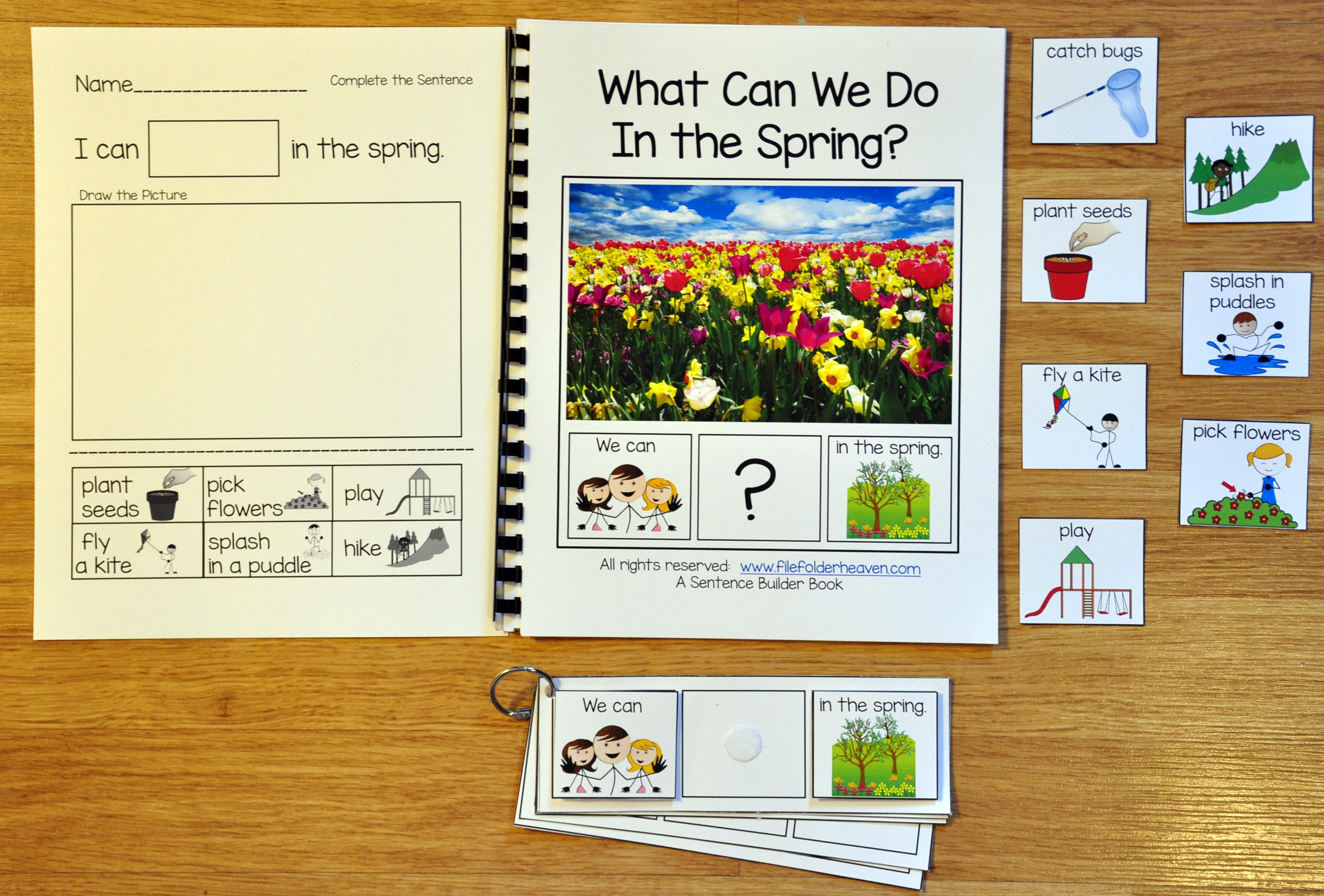 "Building Sentences--""What Can We Do In the Spring?"""