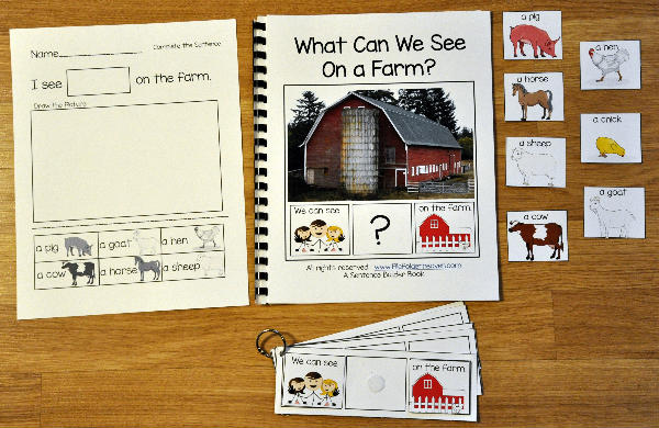 Sentence Builder Adapted Book: What Can We See On the Farm?