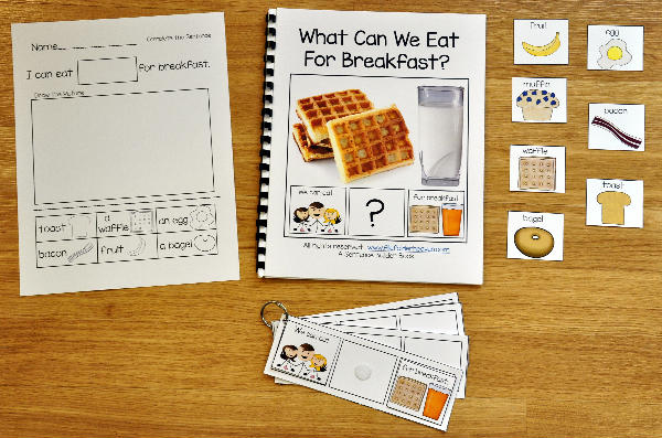 Sentence Builder Adapted Book: What Can We Eat For Breakfast?