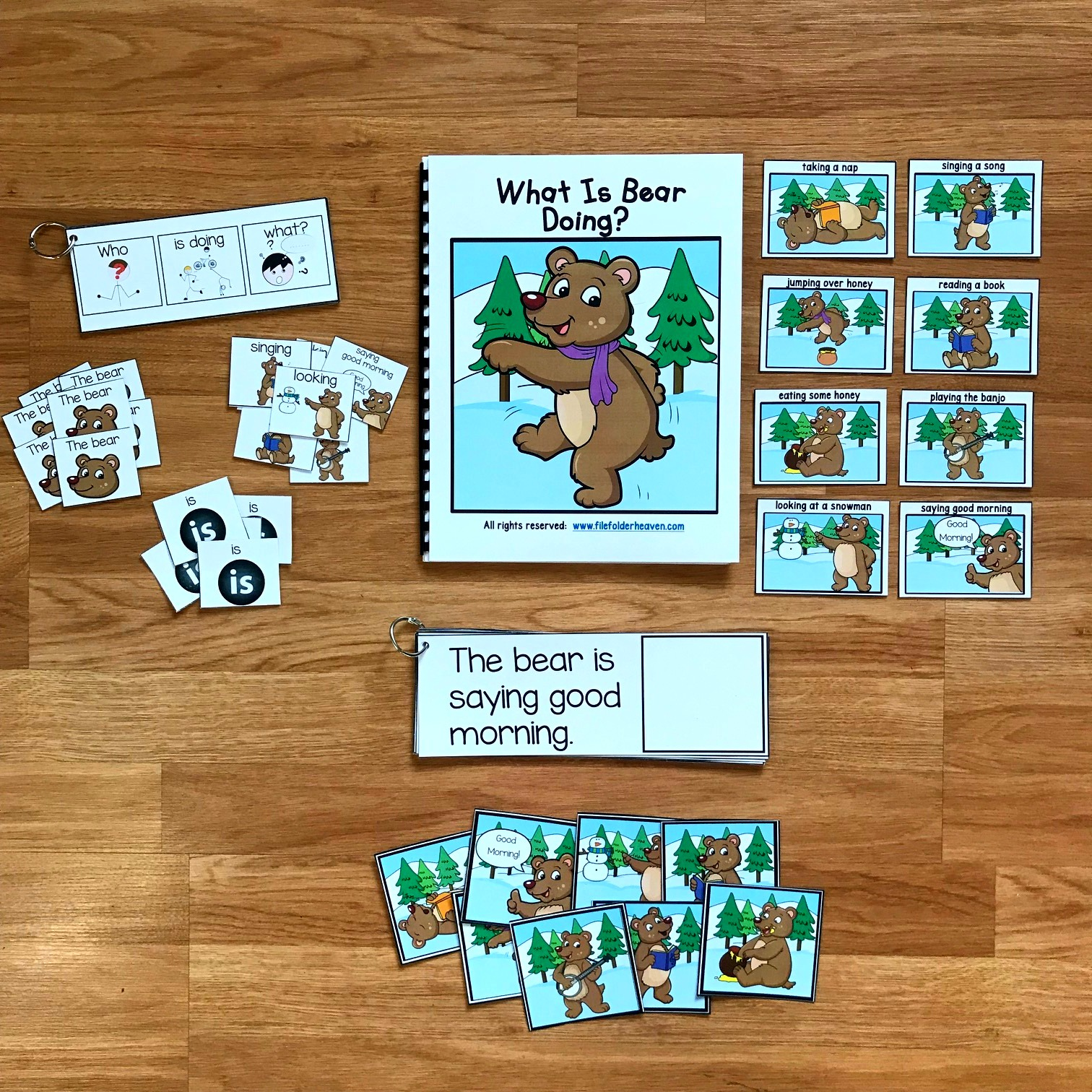 "Winter Sentence Builder Book: ""What Is Bear Doing?"""