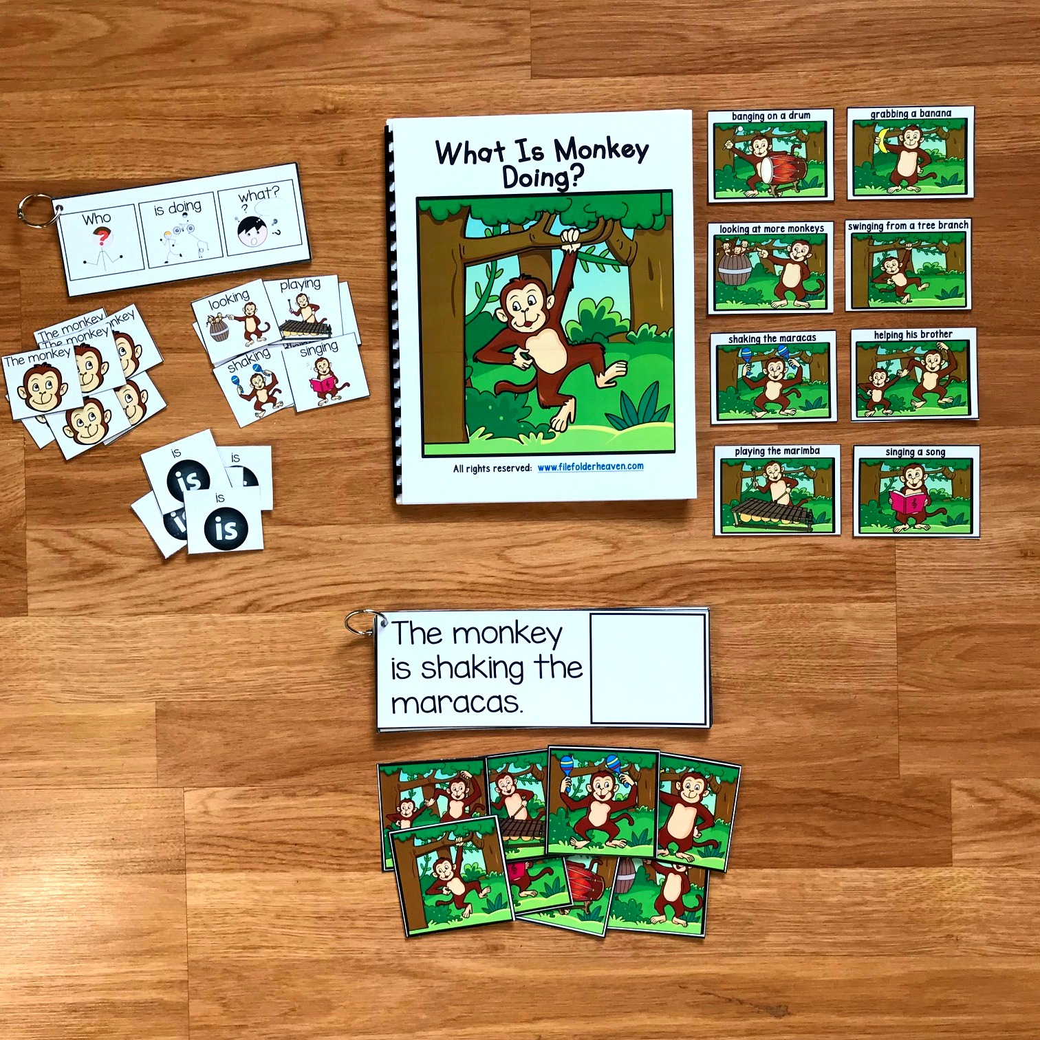 "Zoo Themed Sentence Builder Books: ""What Is Monkey Doing?"""