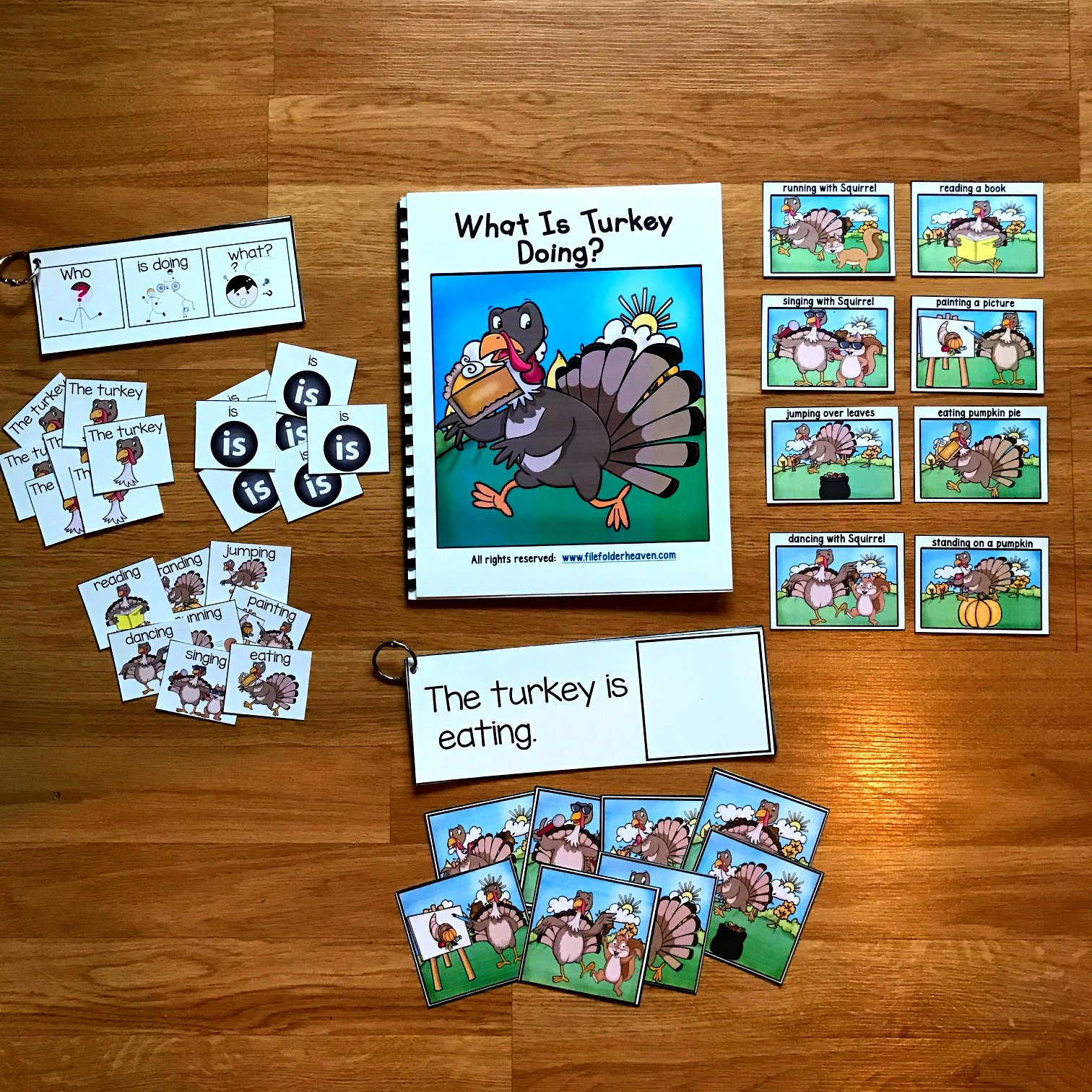 What is Turkey Doing?: Sentence Builder Book