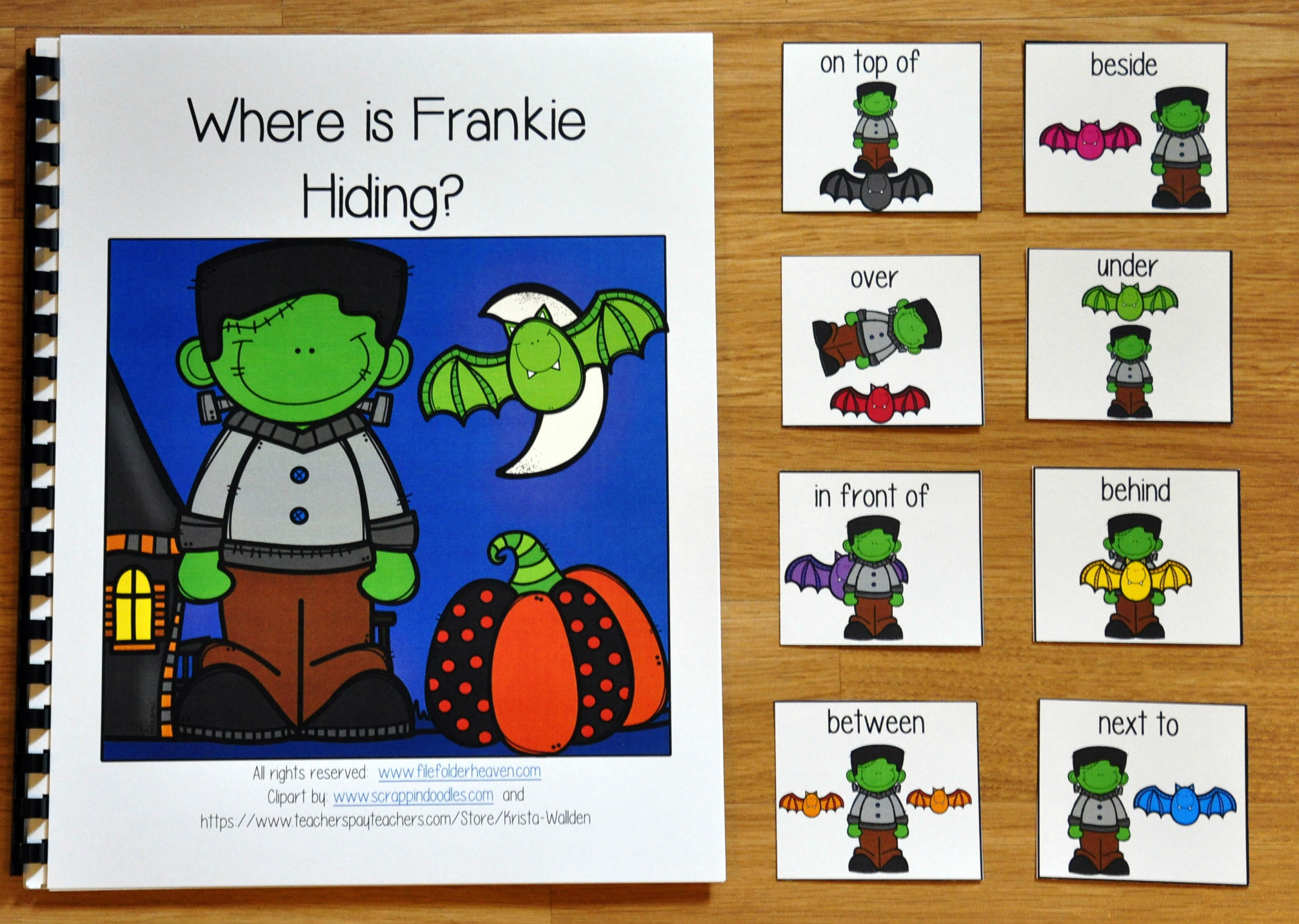 """Where is Frankie Hiding?"" Halloween Adapted Book"