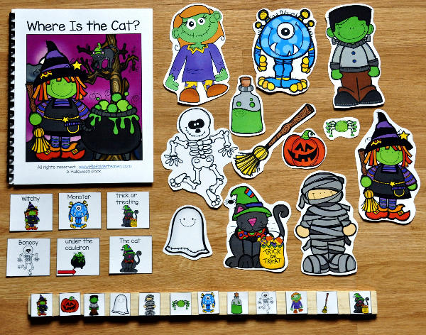 """Where is the Cat?"" Halloween Adapted Book"