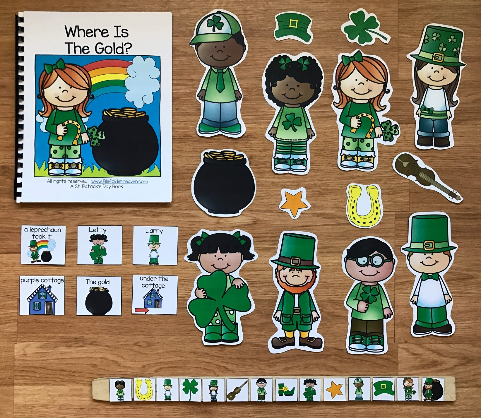 "St. Patrick's Day Adapted Book: ""Where Is The Gold?"""