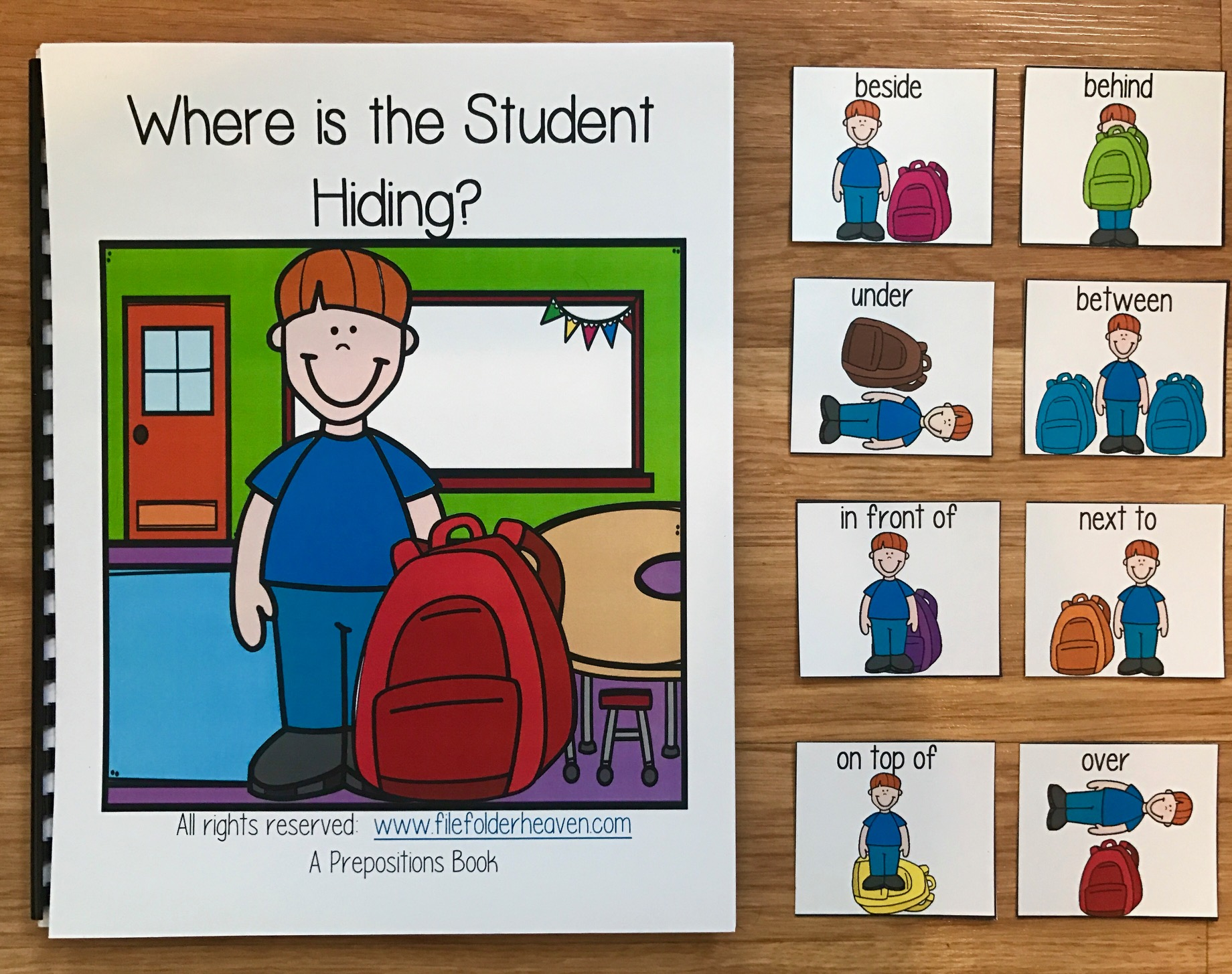 """Where is the Student Hiding?"" Back to School Adapted Book"